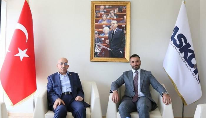 Rektör Murat'tan ASKON Başkanı Orhan Aydın'a Ziyaret