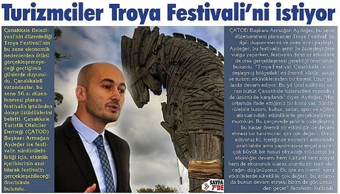 Turizmciler Troya Festivali'ni istiyor