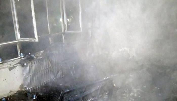 Çanakkale'de elektrikli sobadan yangın çıktı; 1 ölü