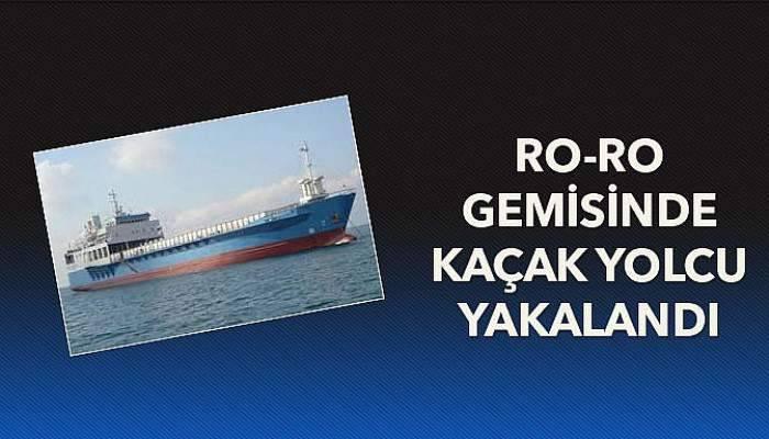Ro-Ro gemisinde kaçak yolcu yakalandı