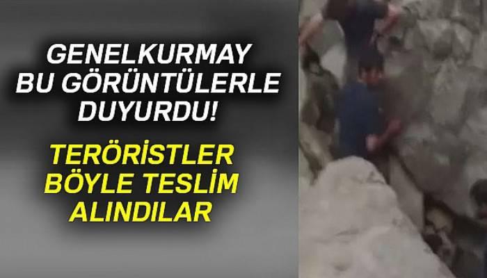 Genelkurmay teslim alınan teröristlerin görüntüsünü paylaştı