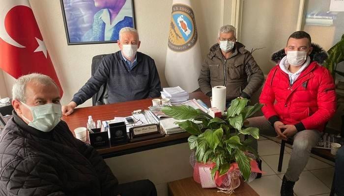 CHP'liler Ziraat Odası Başkanı İle Esnafın Durumunu İstişare Etti