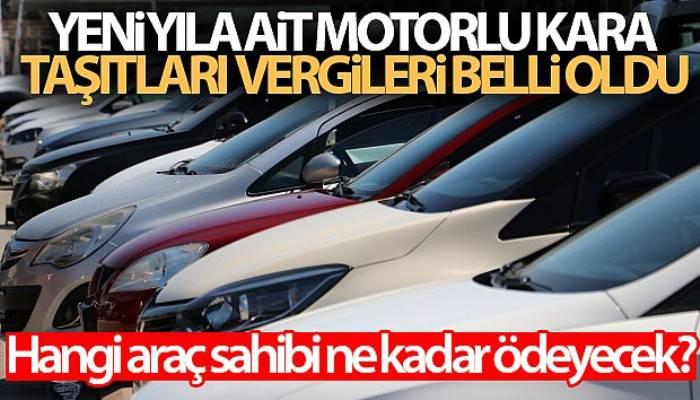 Yeni yıla ait motorlu kara taşıtları vergileri belli oldu