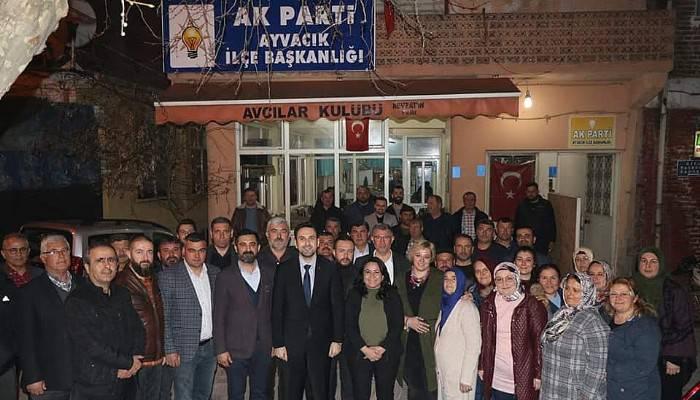 AK PARTİ İL BAŞKANI MAKAS'TAN AYVACIK ZİYARETİ