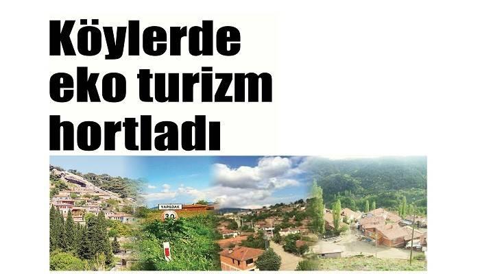 Köylerde eko turizm hortladı