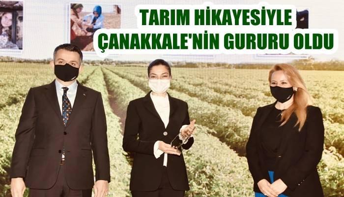 TARIMDA KENDİ HİKAYESİNİ YARATTI: Çanakkale'nin gururu oldu