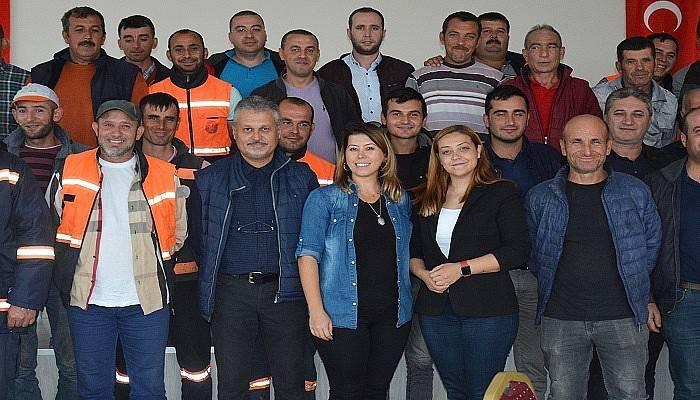 Belediye personeline iş sağlığı ve güvenliği eğitimi verildi