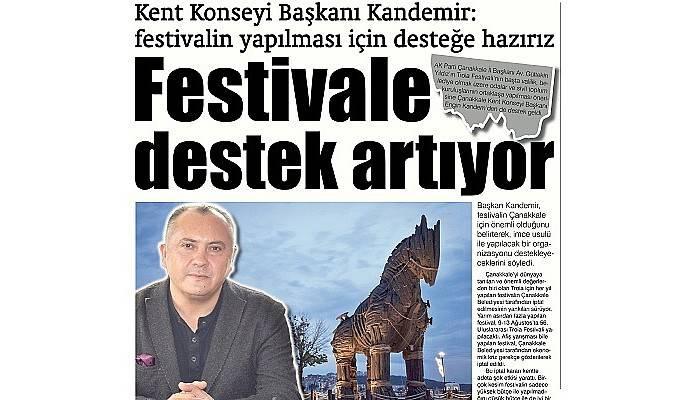 Kent Konseyi Başkanı Kandemir: festivalin yapılması için desteğe hazırız