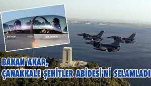 Bakan Akar, Çanakkale Şehitler Abidesi'ni Selamladı (VİDEO)