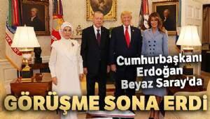 Cumhurbaşkanı Erdoğan - Trump görüşmesi sona erdi!