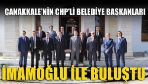 CHP'li belediye başkanları İmamoğlu ile buluştu
