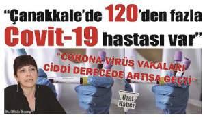 """""""Çanakkale'de 120'den fazla Covit-19 hastası var"""""""