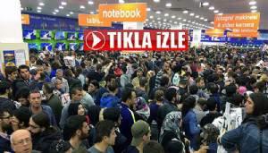 Çanakkale'de elektronik mağazası açılışında izdiham (VİDEO)