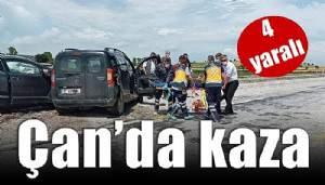 Çan'da trafik kazası! (VİDEO)