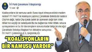 İyi Parti'den Çanakkale Belediye Başkanı'nın dikkatine!