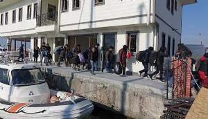 Çanakkale'de 53 kaçak göçmen yakalandı (VİDEO)