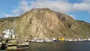 Çanakkaledeki Depremden sonra Babakale'de Toprak Kayması
