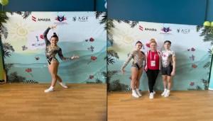 Aerobik cimnastiksporcular başarılar elde etti