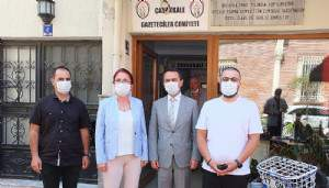 Vali İlhami Aktaş'tan Gazeteciler Cemiyetine Ziyaret