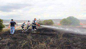 Çan'da anız yangını