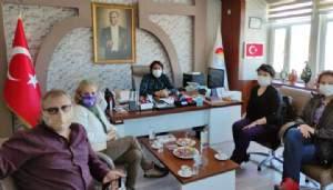 Özgür kadın topluluğundan Başkan Doğan'a ziyaret