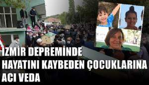 İzmir depreminde hayatını kaybeden hala ve yeğenleri Çanakkale'de son yolculuklarına uğurlandı (VİDEO)