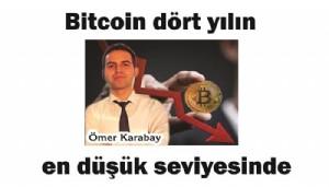 Bitcoin 4 yılın en düşük seviyesinde