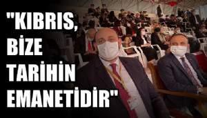 Turan, Cumhurbaşkanı Erdoğan ile birlikte KKTC'nin 37. Kuruluş yılı törenlerine katıldı