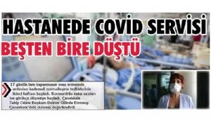 Hastanede Covid servisi beşten bire düştü