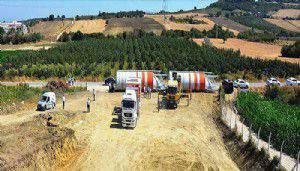 Lapseki'ye beton santrali kuruluyor