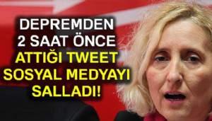 Melda Onur'un depremden 2 saat önce attığı tweet sosyal medyayı salladı