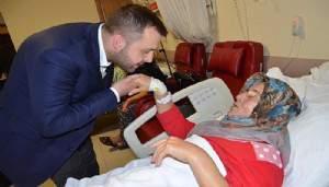 Başkan Yüksel hastaların kandilini kutladı