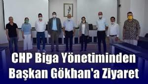 CHP Biga Yönetiminden Başkan Gökhan'a Ziyaret